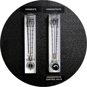 Permeate and Concentrate Flow Meters card icon